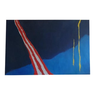 Large Original Abstract Oil on Canvas by Sachiko Asano