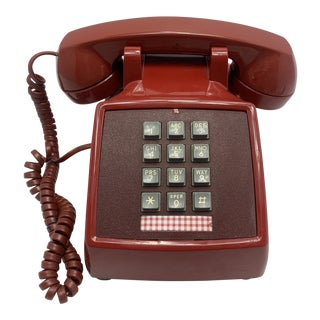 1970s Vintage Red 2500 Telephone For Sale