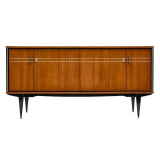 Vintage French Modernist Rosewood Buffet For Sale