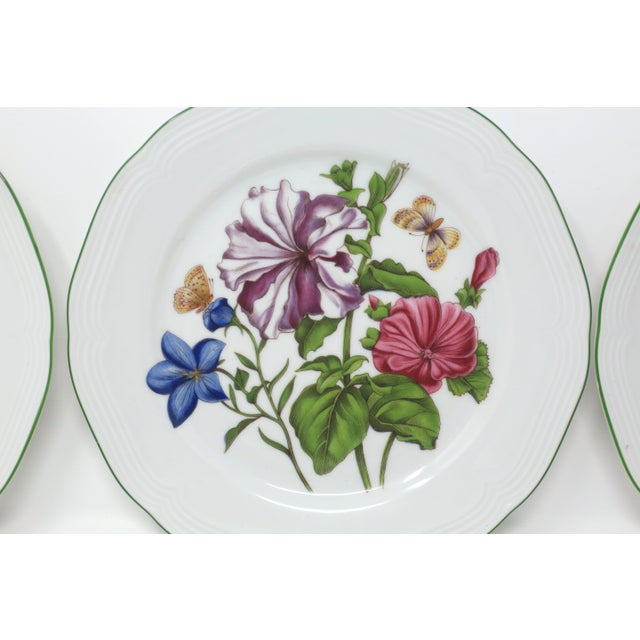 Boho Chic Vintage Bavarian China Floral Salad Plates by Bareuther - Set of 6 For Sale - Image 3 of 12