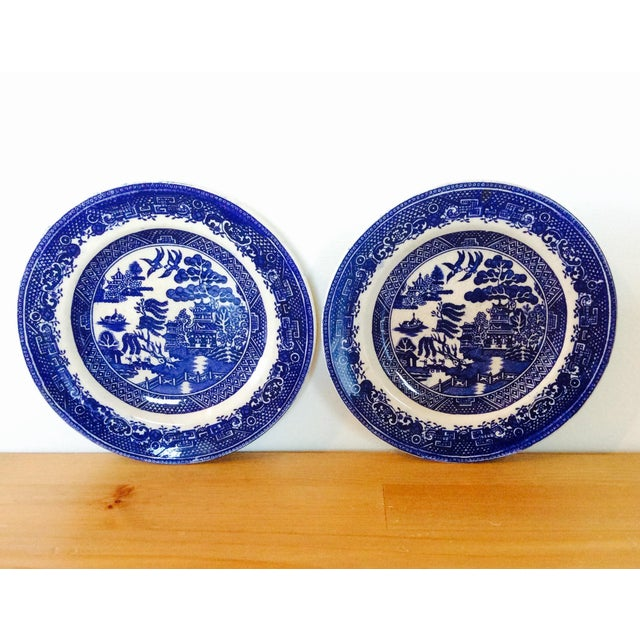 Antique Willow Adderley Plates - A Pair - Image 2 of 10