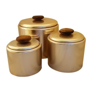 "Mid-Century ""Rose-Gold"" Canisters For Sale"