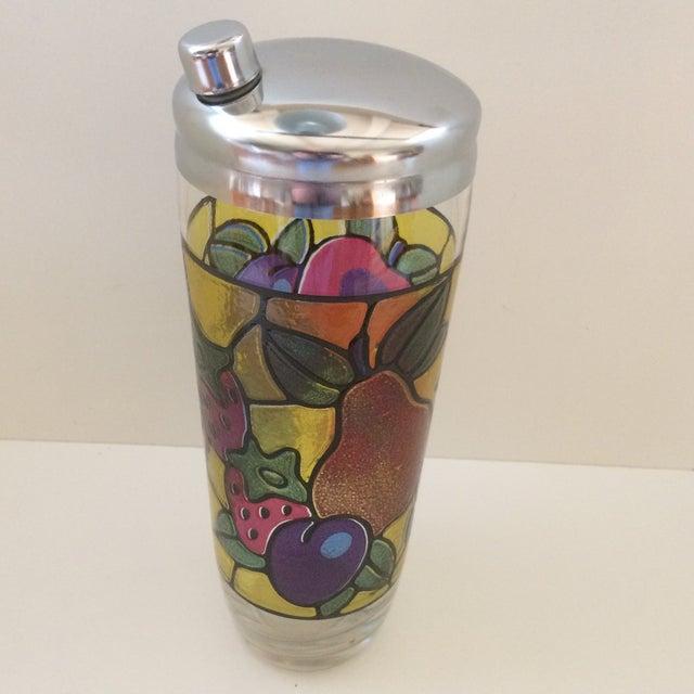 Vintage Mosaic 24 Oz. Fruit Pattern Cocktail Shaker For Sale - Image 11 of 11