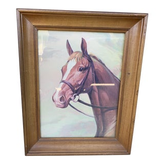 1960s Vintage Sam Savitt Thoroughbred Print, Framed For Sale