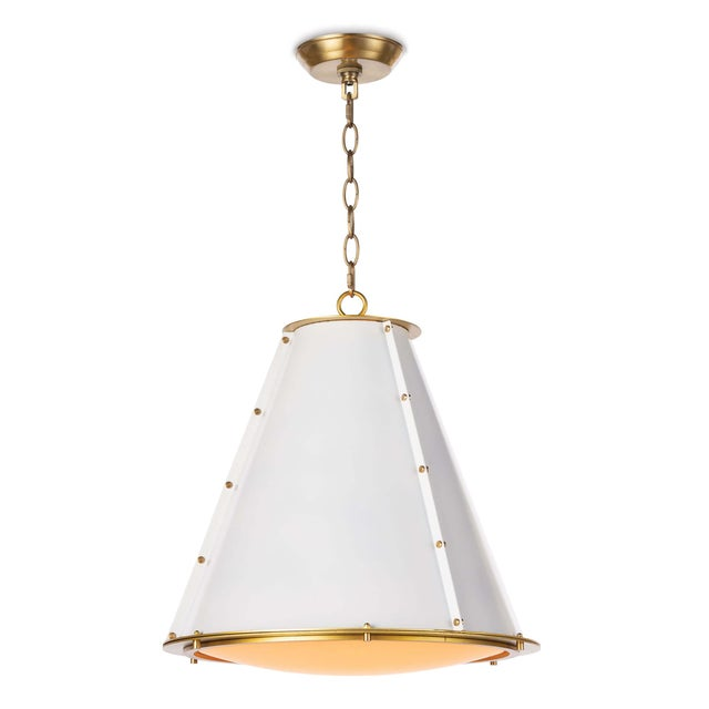 French Maid Chandelier Small in White For Sale - Image 9 of 9