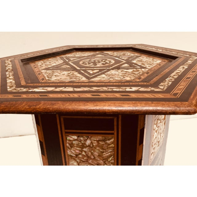 Late 19th Century 19th Century Moorish Mother-Of-Pearl Inlaid Table For Sale - Image 5 of 13