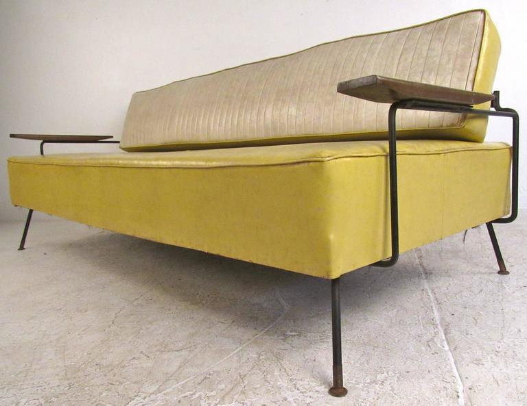 Vintage Daybed richard mccarthy for selrite mid-century vinyl daybed | chairish