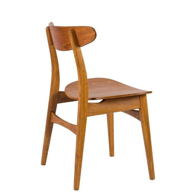 Wood Set of Eight Hans Wegner CH 30 Dining Chairs For Sale - Image 7 of 10