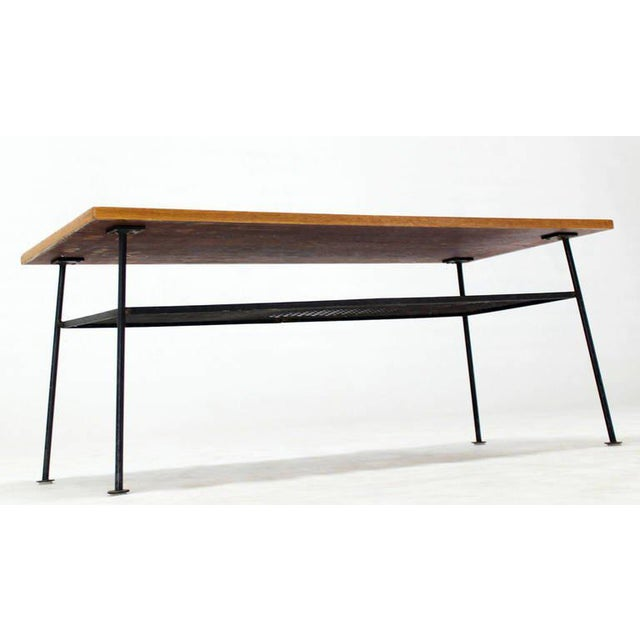 Brown Mid-Century Modern Coffee Table by Mattieu Mategot For Sale - Image 8 of 8