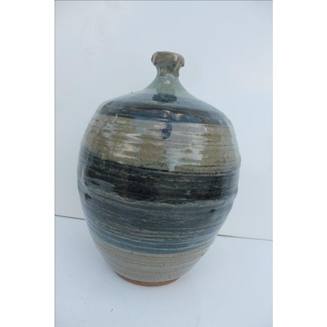 Vintage Green & Blue Glaze Bud Vase - Image 8 of 8