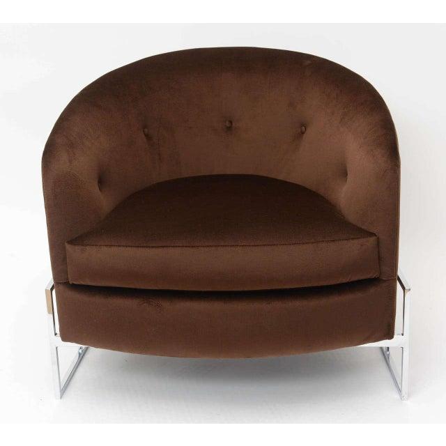 Milo Baughman for Thayer Coggin Milo Baughman Barrel Back Chair For Sale - Image 4 of 11