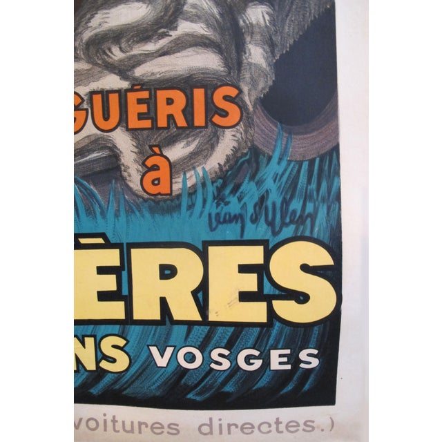 1931 Vintage French Travel Poster, Plombieres Les Bains by Jean d'Ylen For Sale - Image 4 of 5
