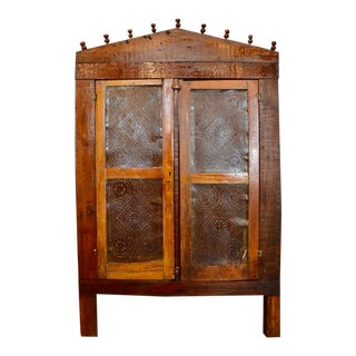 Late 19th Century Farmhouse Primitive Antique Pie Safe For Sale