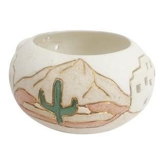 Vintage Southwestern Cactus Cache Pot For Sale