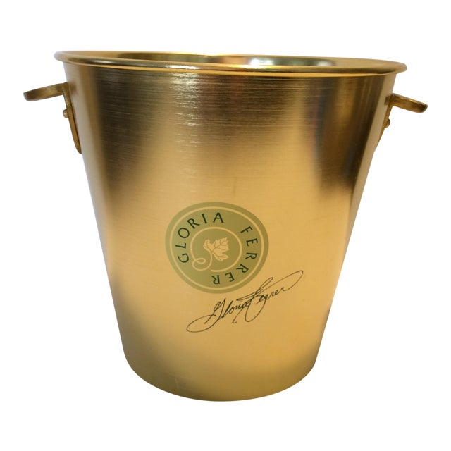 Gloria Ferrer Gold Anodized Aluminum Champagne Bucket For Sale