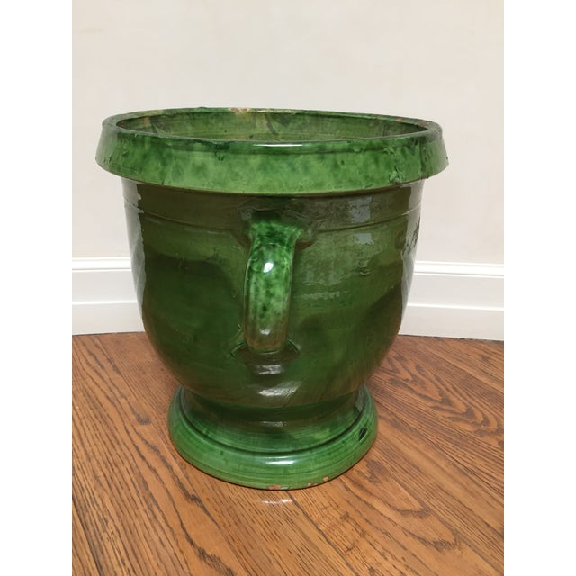 Country 19th Century French Green Terra Cotta Pitcher For Sale - Image 3 of 6