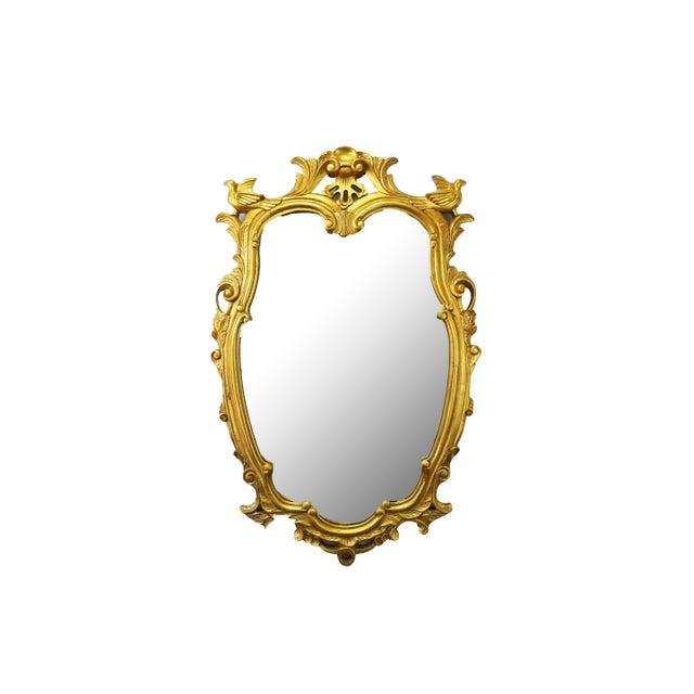 Vintage Gold Gilt Wood Mirror For Sale - Image 9 of 9
