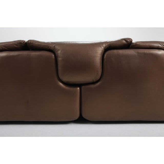 Animal Skin Bronze Leather Saporiti High-End Sectional Sofa 'Confidential' For Sale - Image 7 of 12