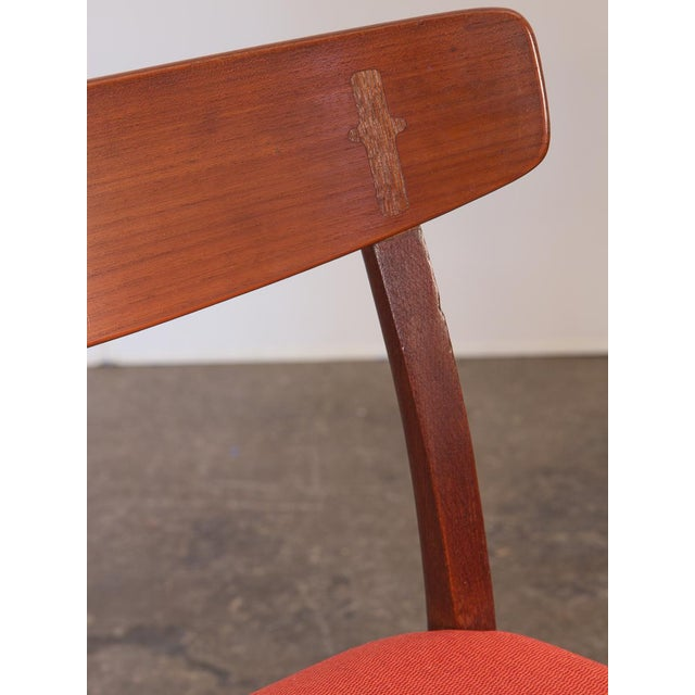 Wood Set of Six Hans J. Wegner Ch-23 Dining Chairs For Sale - Image 7 of 11