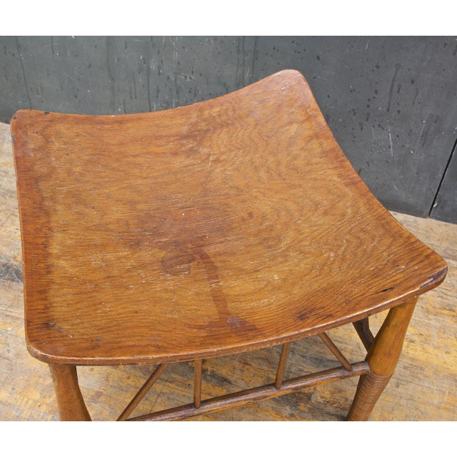 Old Victorian Liberty Thebes Stool Bohemian Egyptian Revival Rustic Cabin Modern For Sale In Washington DC - Image 6 of 8