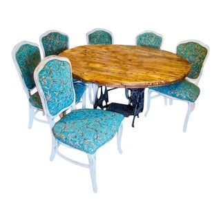 Cable Spool Dining Set For Sale
