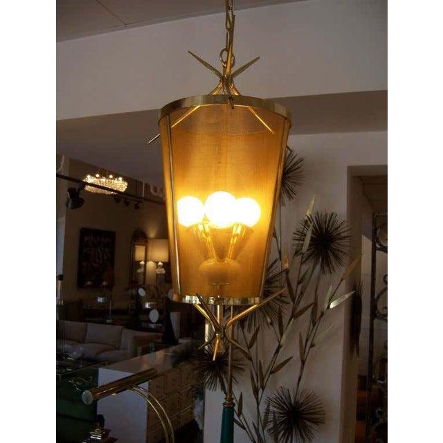 Italian Petite Brass Lantern Hanging Light For Sale - Image 4 of 5