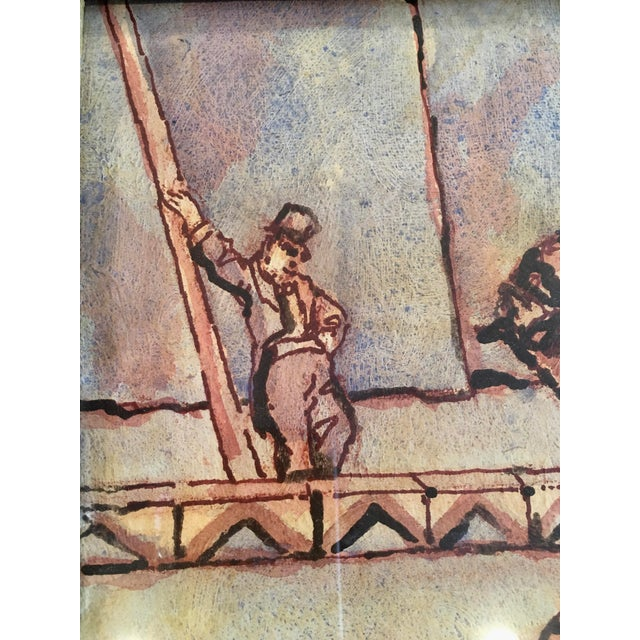 """Circus Series """"Bare Back Trick Riding"""" Painting For Sale In Atlanta - Image 6 of 11"""