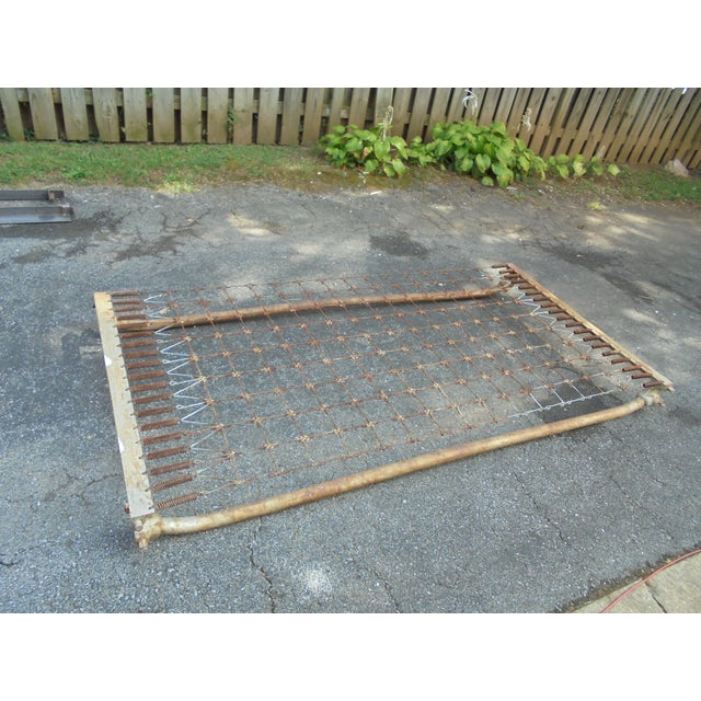 Vintage Iron Twin Bed - Image 4 of 8