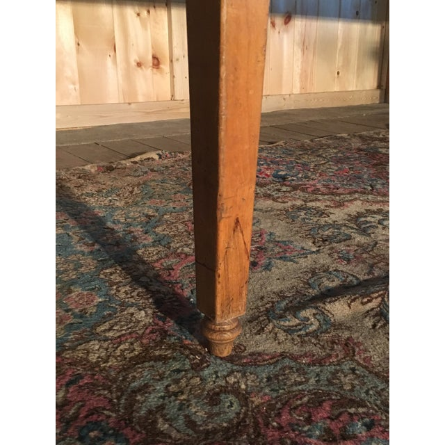 Antique Pine Farm Table For Sale - Image 10 of 10