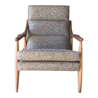 Mid Century Style Custom Walnut Lounge Chair