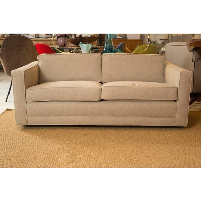 Mid-Century Knoll Sofa in Custom Linen - Image 3 of 6