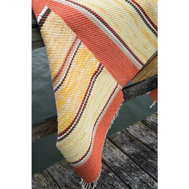 Contemporary Swedish Handwoven Runner- 2′5″ × 6′11″ For Sale - Image 3 of 8