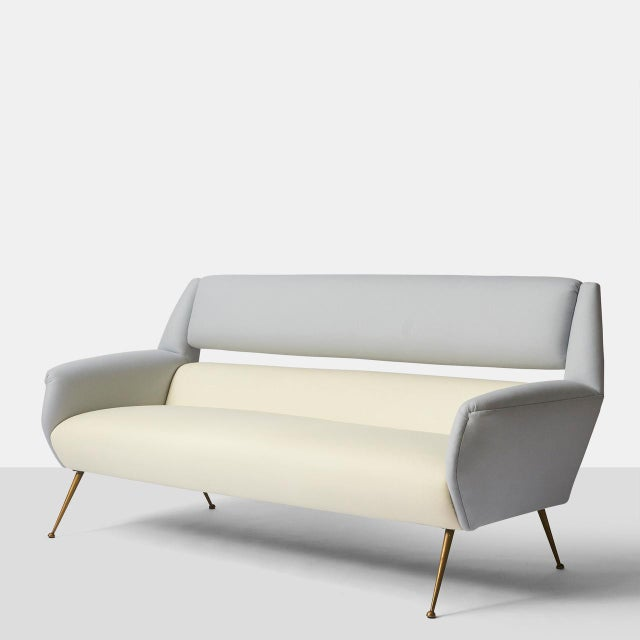 White Gigi Radice Two Tone Sofa For Sale - Image 8 of 8