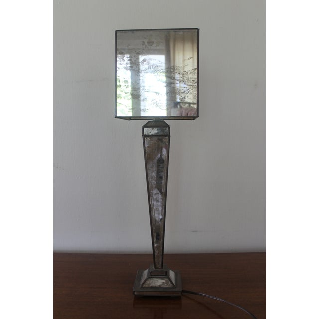 2000s Worlds-Away Mirrored Lamp For Sale - Image 5 of 9