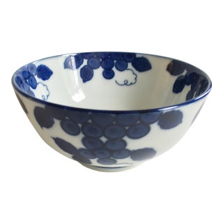Grape Leaves Antique Chinese Bowl For Sale