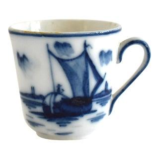 Antique 19th-Century Blue Underglaze Miniature Child's Cup For Sale