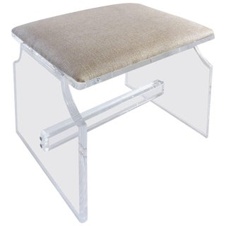 Custom-Made Lucite Piano Bench or Stool For Sale