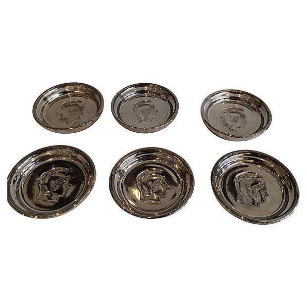 Roman Soldier Mercury Glass Coasters- Set of 6 - Image 3 of 3