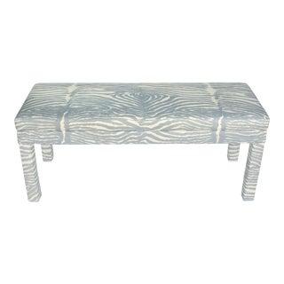 Gray Zebra Midcentury Bench For Sale