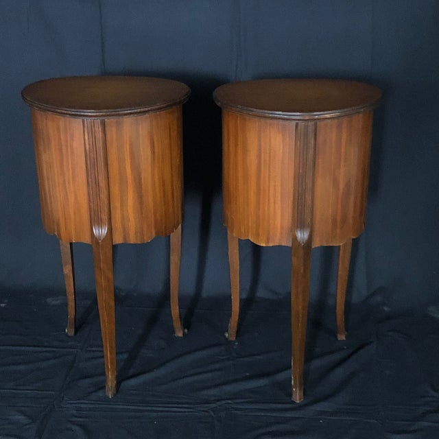 French Louis XV Style Nightstands -A Pair For Sale - Image 9 of 12