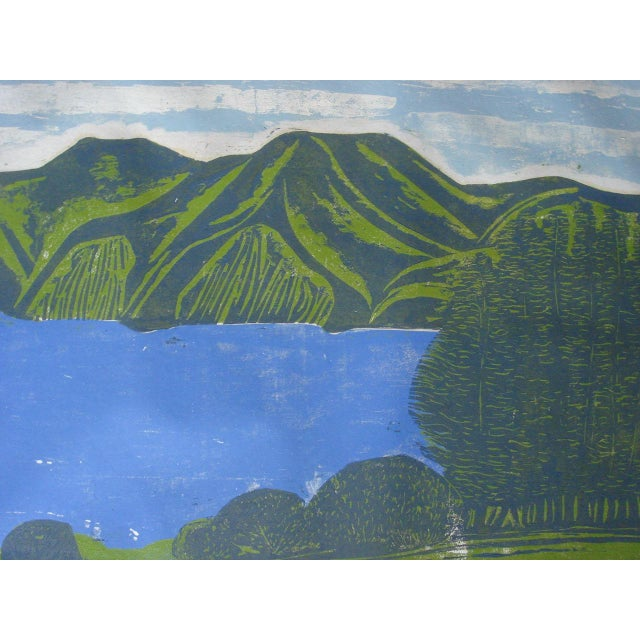"""""""South Bay"""" Woodblock by William Wolff - Image 4 of 4"""