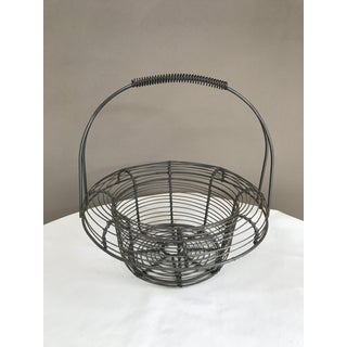 Vintage, Handled Metal Wire Onion Egg Basket Preview