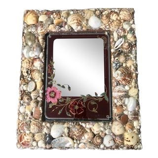 Custom Shell Embellished Vintage Mirror For Sale
