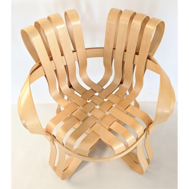 Frank Gehry for Knoll Cross Check Chair Maple Wood With Arms - a Pair For Sale In Miami - Image 6 of 13