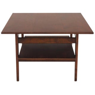 Jens Risom Square Occasional Coffee Side Table Oiled Walnut For Sale