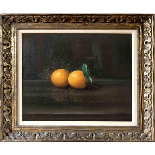 Oranges Still Life Oil Painting Mid-Century Reproduction After Antonio Gusini For Sale