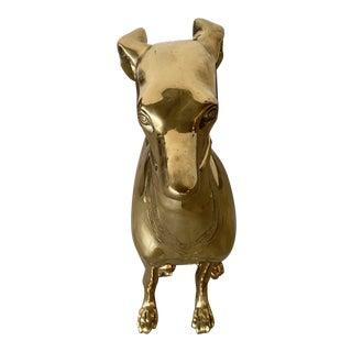 1950s Brass Greyhound For Sale