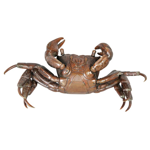 Japanese Meiji Articulated Bronze Crab For Sale - Image 9 of 10