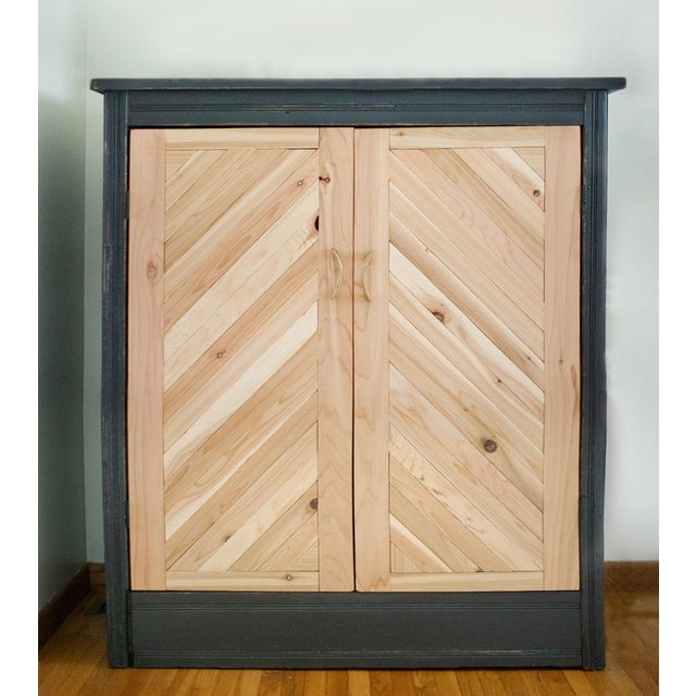 Antique Letterpress Cedar Cabinet - Image 2 of 11