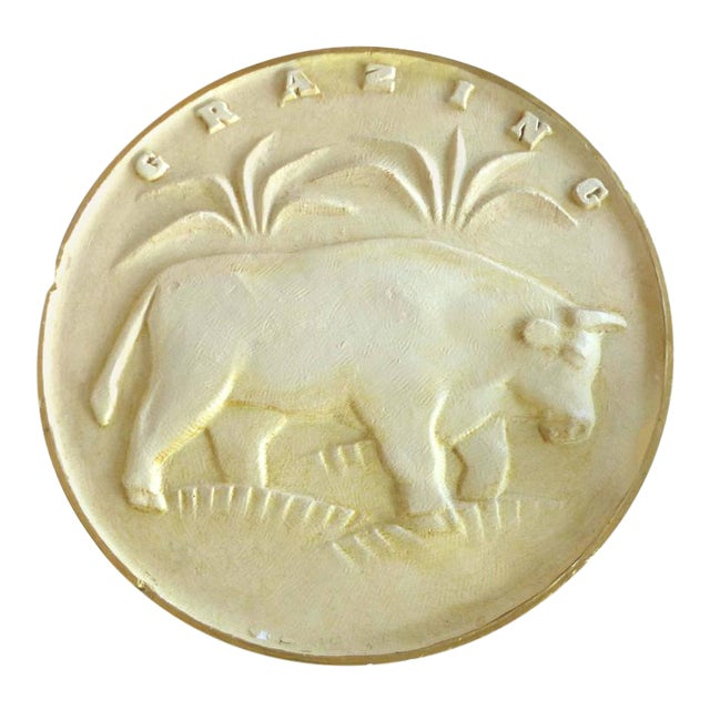 Art Deco Cattle Plaque by Charles Dodson For Sale